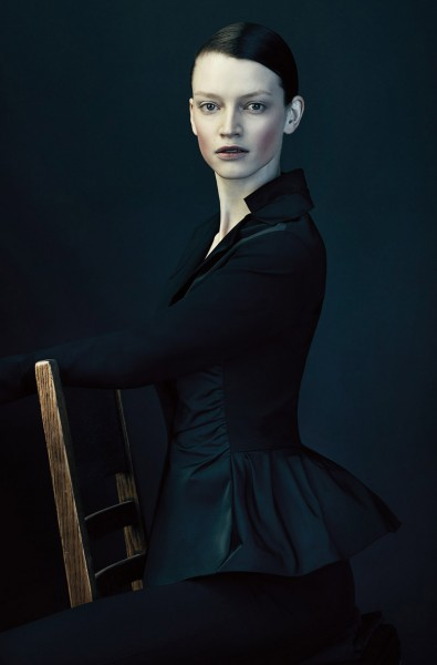 Chris Nicholls Lenses Austere Glamour for Lida Baday's Fall 2012 Campaign