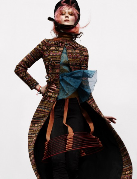 Jac Jagaciak Wears Layers of Prints for Numéro #136 by Greg Kadel