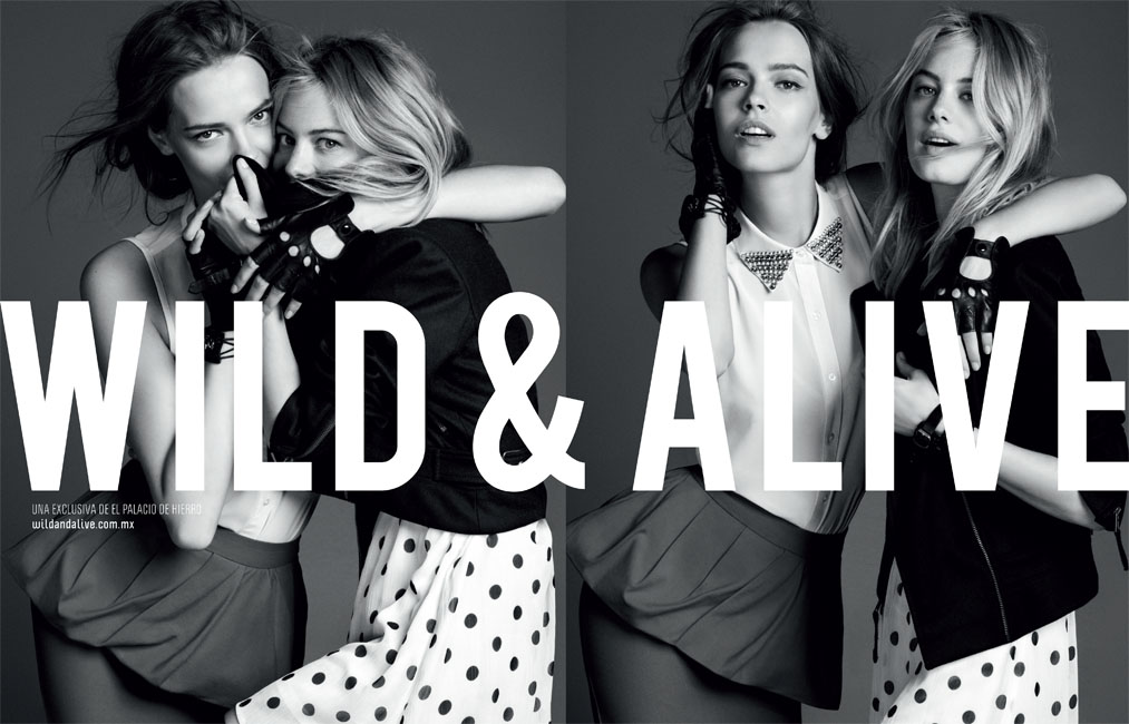 David Roemer Captures Camille Rowe & Mina Cvetkovic for the El Palacio de Hierro F/W 2012 Campaign