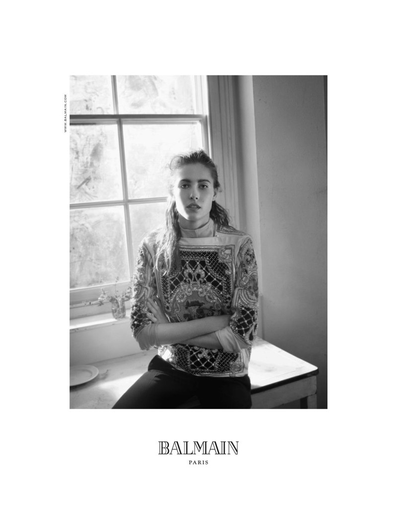 Nadja Bender Chills for Balmain's Fall 2012 Campaign by David Sims