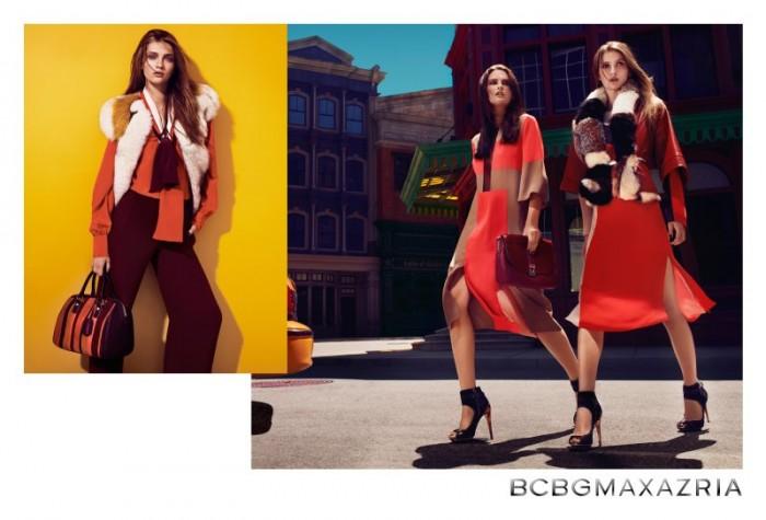 Elena Melnik & Ella Kandyba Are Bohemian Luxe for BCBG Max Azria's Fall 2012 Campaign