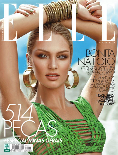Candice Swanepoel Smolders on the September Cover of Elle Brazil