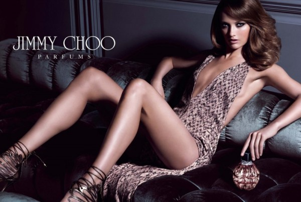 Karmen Pedaru Seduces in the Jimmy Choo Fragrance Campaign