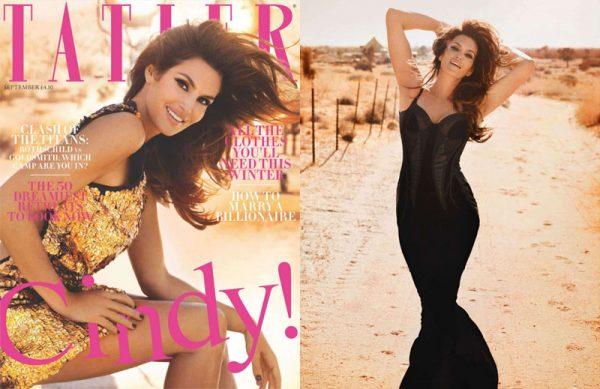 Cindy Crawford is Tatler's Bombshell Cover Girl for September 2012