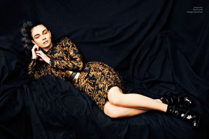 """Tonya by Nicholas Routzen in """"Crown Gold"""" for Fashion Gone Rogue"""