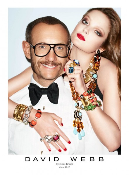 Eniko Mihalik & Terry Richardson Front the David Webb Fall 2012 Campaign