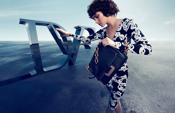 Arizona Muse is Logo-Obsessed for Diane von Furstenberg's Fall 2012 Campaign by Camilla Akrans