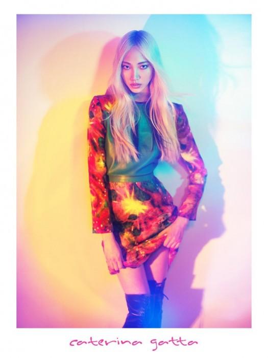 Soo Joo Embraces Kaleidoscopic Color for Caterina Gatta's Fall 2012 Campaign by Paolo Santambrogio