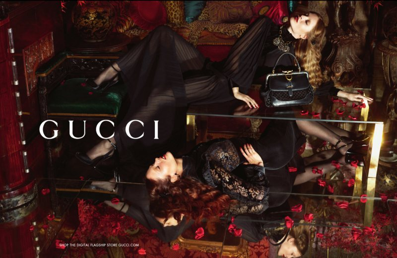 Karmen Pedaru & Nadja Bender Luxuriate in Gucci's Fall 2012 Campaign by Mert & Marcus