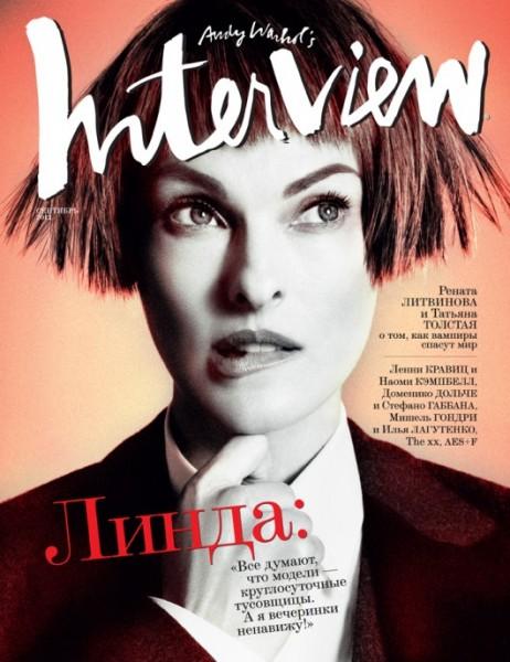 Linda Evangelista & Renata Litvinova Cover Interview Russia September 2012