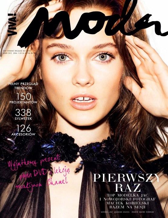 Jac Jagaciak Fronts Viva! Moda's Fall 2012 Cover in Gucci
