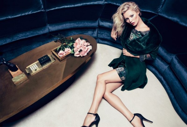 Kate Moss Smolders in Liu Jo's Fall 2012 Campaign by Inez & Vinoodh