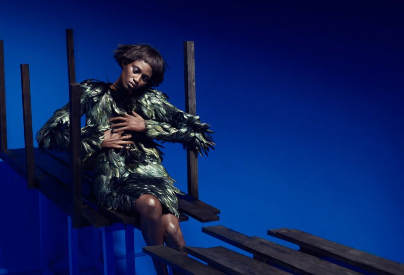 Suzie Q + Leo Siboni Shoot Kinee Diouf for Wallpaper September 2012