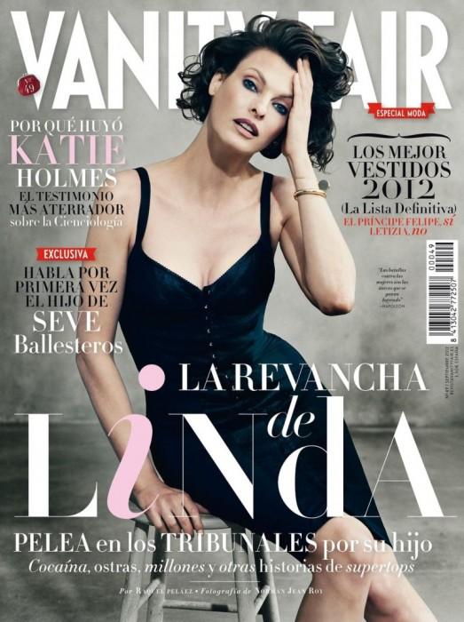 Linda Evangelista Graces the September Cover of Vanity Fair Spain