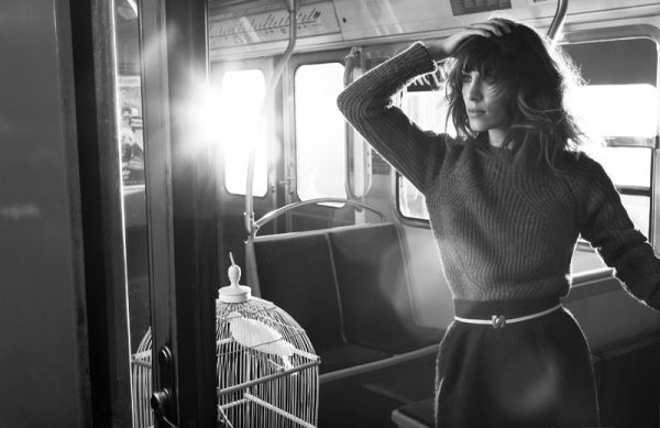 Alexa Chung Takes the Metro for Maje's Fall 2012 Campaign by Glen Luchford