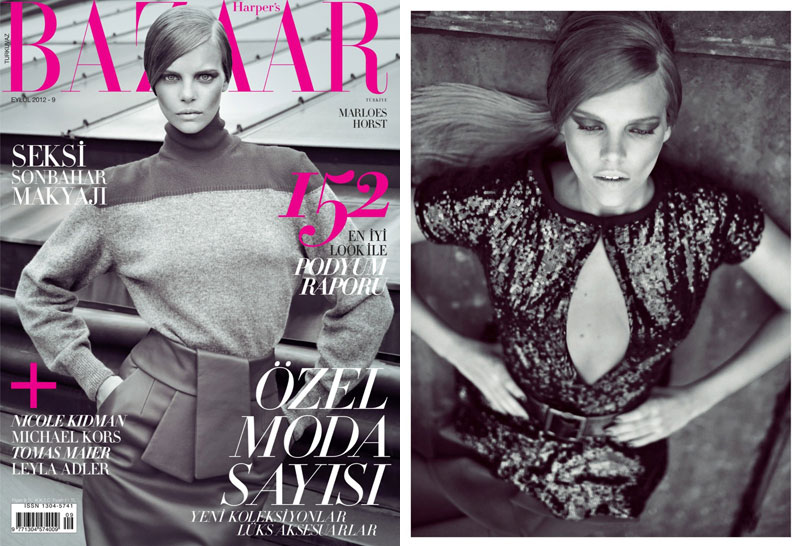 Marloes Horst Stars in the Harper's Bazaar Turkey September Cover Shoot by Koray Birand