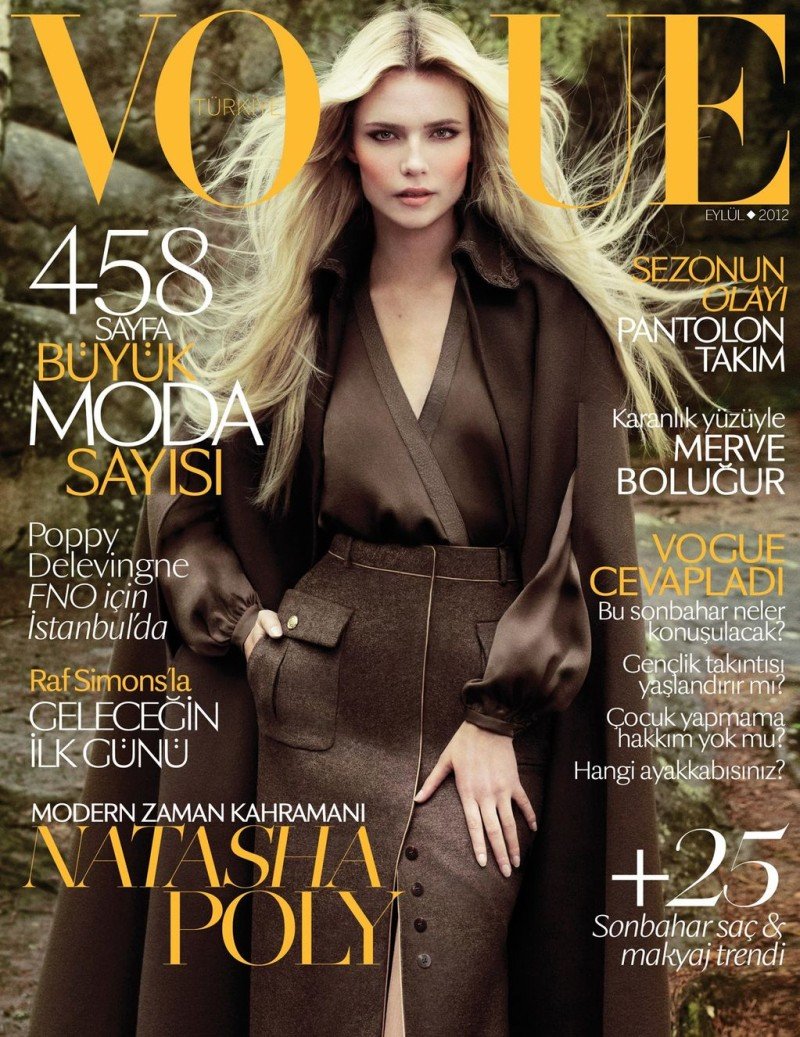 Natasha Poly Stuns on the September Cover of Vogue Turkey