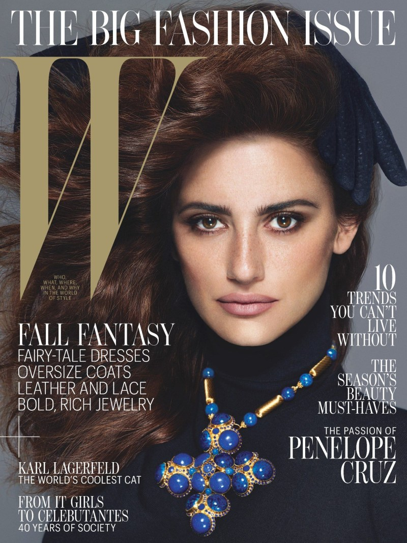 Penelope Cruz Graces W Magazine's September 2012 Cover by Mert & Marcus