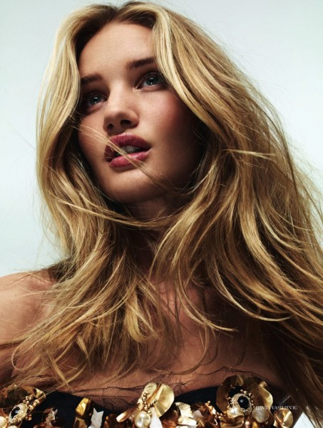 Rosie Huntington-Whiteley Wows in the September Issue of Elle UK by David Vasiljevic