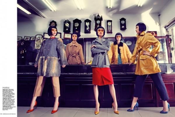 Gan Lenses Shanghai Beauties for Harper's Bazaar Singapore September 2012
