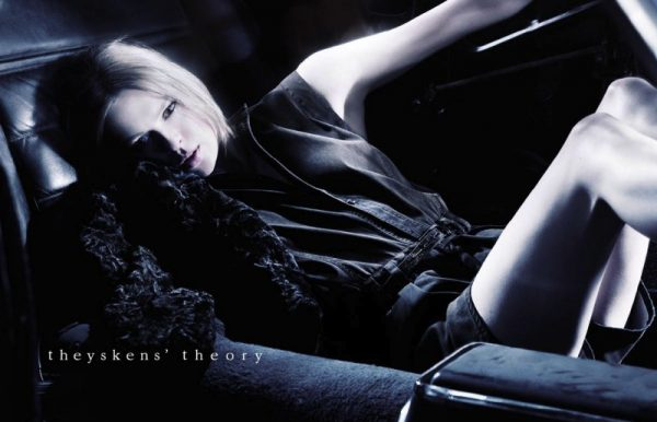 Elise Crombez Enchants in the Theyskens' Theory Fall 2012 Campaign by Julien Claessens