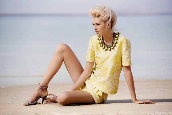 Krystal Glynn Hits the Beach for Thurley's Spring 2012 Campaign by David Mandelberg