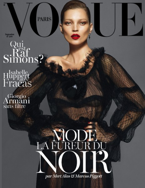 Kate Moss, Lara Stone & Daria Werbowy Cover Vogue Paris' Redesigned September Issue