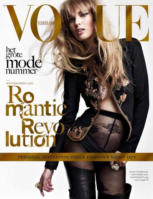 Ymre Stiekema Rocks Black for Vogue Netherlands' September 2012 Cover