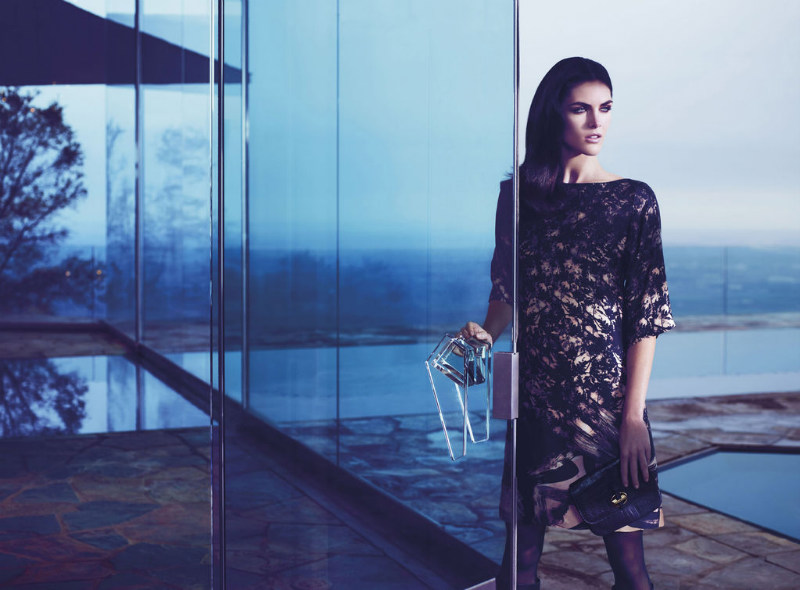 Hilary Rhoda is Pure Elegance for Hugo Boss Black's Fall 2012 Campaign by Mario Sorrenti