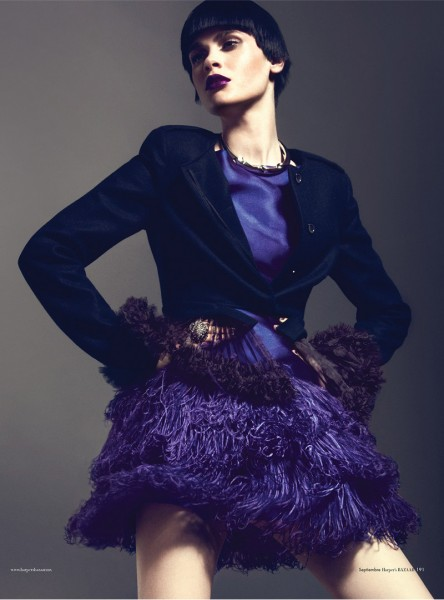 Reka Nagy Has Purple Power for Harper's Bazaar Mexico October 2012 by Kevin Sinclair