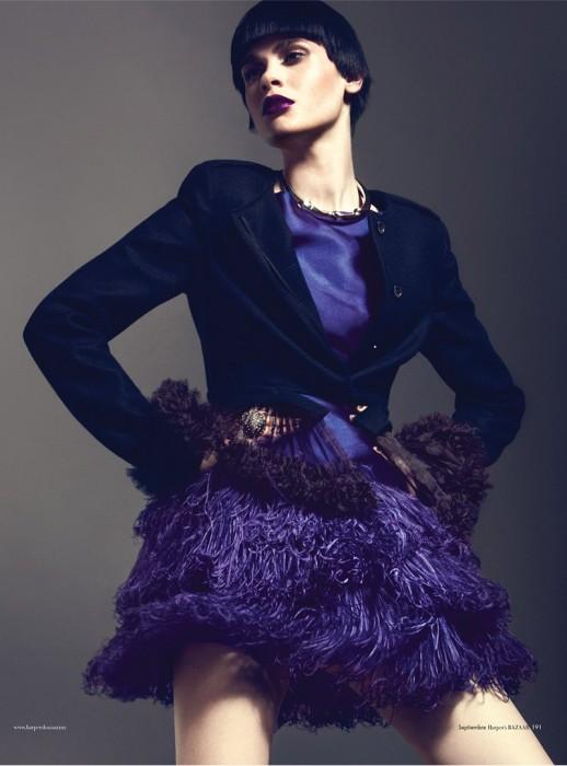 Reka Nagy Has Purple Power for Harper's Bazaar Mexico October 2012 by Kevin Sinclair