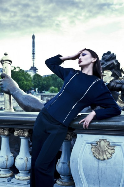 Ling Ling Kong is Sleek in Céline for L'Officiel China September 2012 by Michelle Du Xuan
