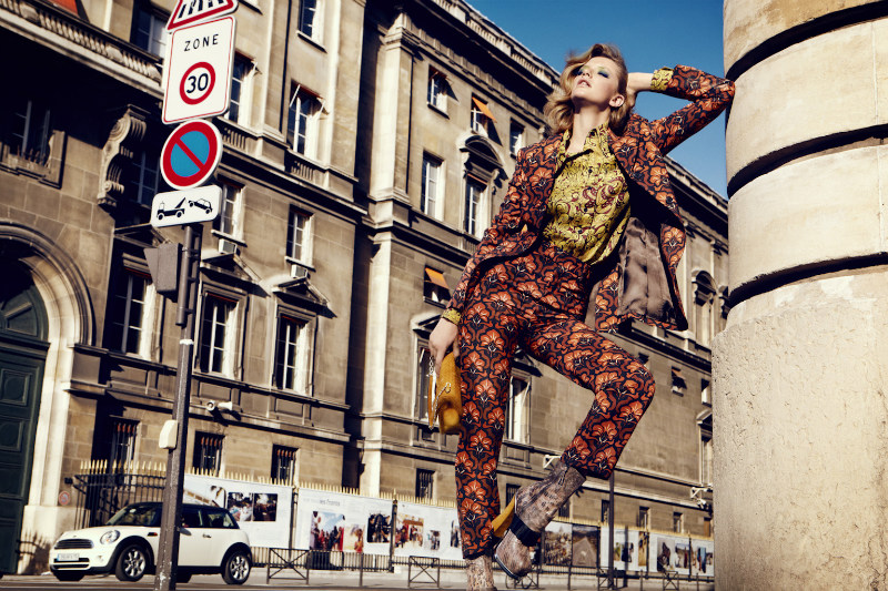 Milagros Schmoll is Pretty in Paris for Harper's Bazaar Turkey October 2012