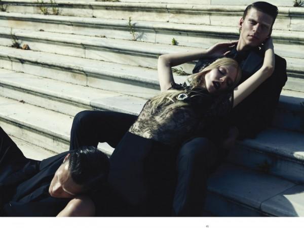 Dimitris Skoulos Captures a Gothic Romance Starring Nasia Mylona for One Magazine October 2012