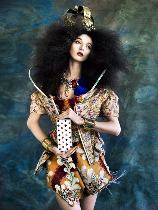Evelina Mambetova Dresses Like Royalty in Tatler Hong Kong September 2012, Lensed by Nikolay Biryukov