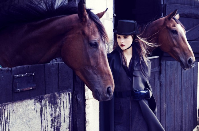 Rasa Zukauskaite Models Equestrian Fashion for Marie Claire Spain by Sergi Pons