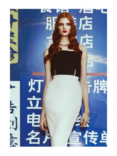 Andrew Yee Takes Anastasia Ivanova to Chinatown for S Moda's May Issue