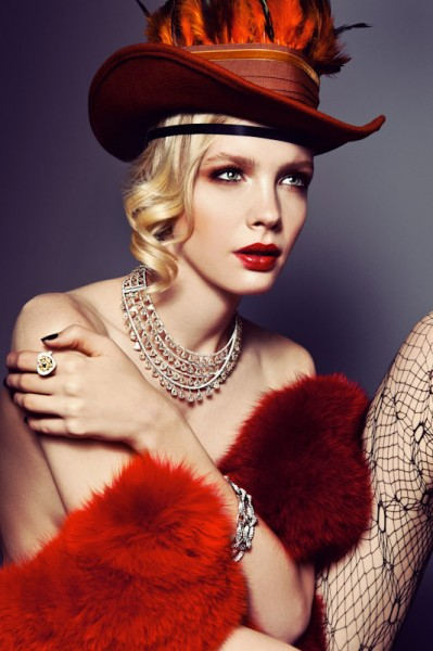 Sophie Srej Evokes Vintage Glamour for Harper's Bazaar China by Michelle Du Xuan