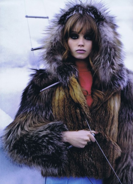 Abbey Lee Kershaw by Karl Lagerfeld in The Big Chill | <em>Harper&#8217;s Bazaar US</em> October 2010