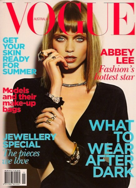 <em>Vogue Australia</em> November 2010 Cover | Abbey Lee Kershaw