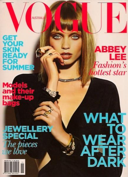 Vogue Australia November 2010 Cover | Abbey Lee Kershaw