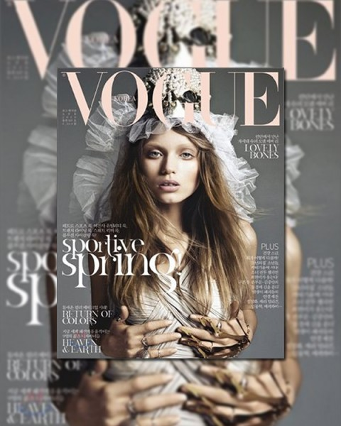 <em>Vogue Korea</em> April 2010 Cover | Abbey Lee Kershaw