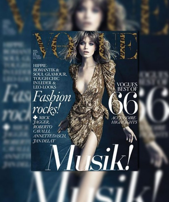 Vogue Germany August 2010 Cover | Abbey Lee Kershaw by Alexi Lubomirski