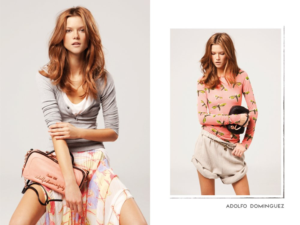 Kasia Struss for Adolfo Dominguez Spring 2012 Campaign