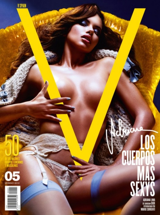 V Spain Summer 2010 Cover | Adriana Lima by Mario Sorrenti