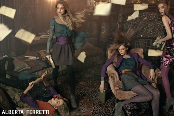 Campaign Preview | Alberta Ferretti Fall 2009 by Steven Meisel