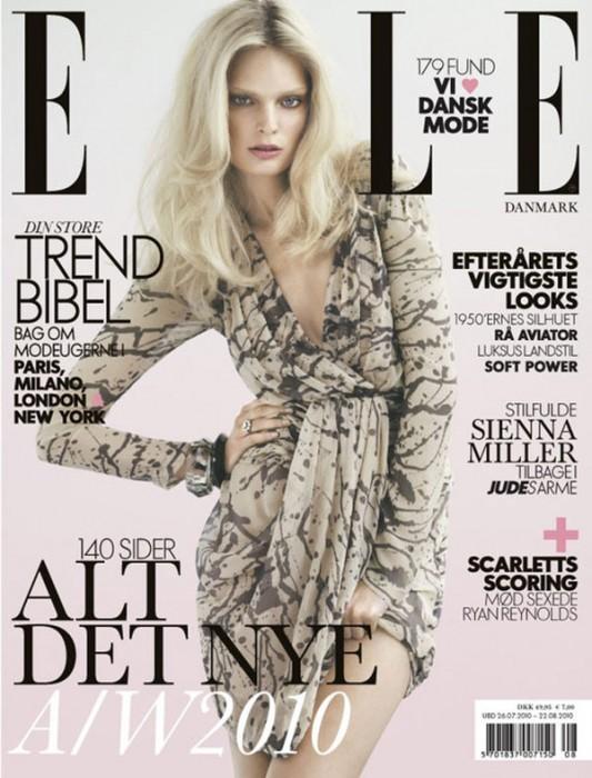 Elle Denmark August 2010 Cover | Agnete Hegelund