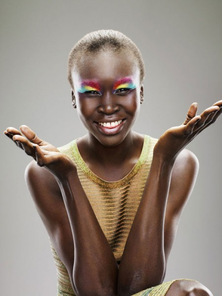 Alek Wek for Dutch <em>Glamour</em> August 2010 by Marc de Groot