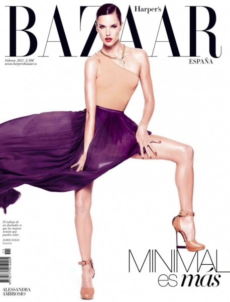 <em>Harper&#8217;s Bazaar Spain</em> February 2011 Cover | Alessandra Ambrosio by Nico