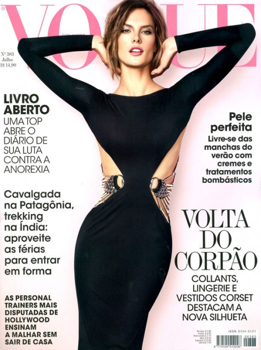 Vogue Brazil July 2010 Cover | Alessandra Ambrosio by Jacques Dequeker